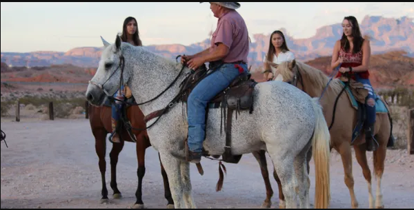 Horseback Riding Tour with LUNCH &  Chuck Wagon Dinner SHOW! Includes Transportation $150 per rider